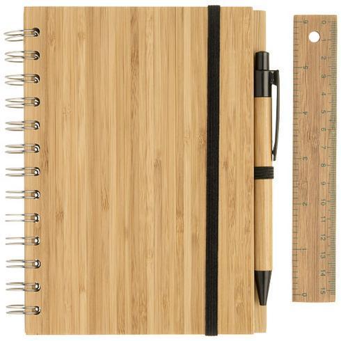 Franklin B6 Bambus Notizbuch mit Stift und Lineal