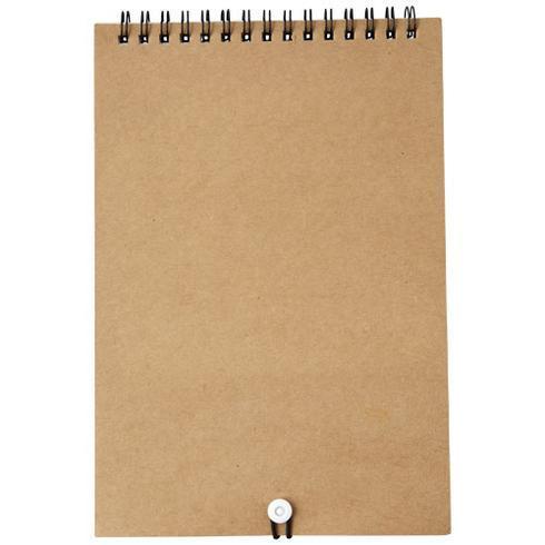 Claude Malset mit Notizbuch