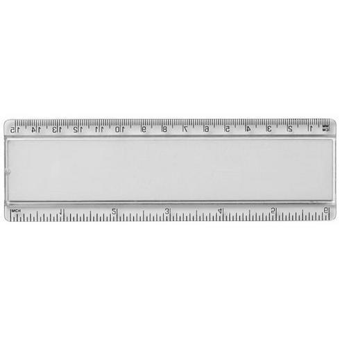 Ellison 15 cm Kunststofflineal mit Papiereinlage