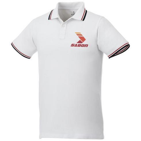 Fairfield Poloshirt mit weißem Rand für Herren